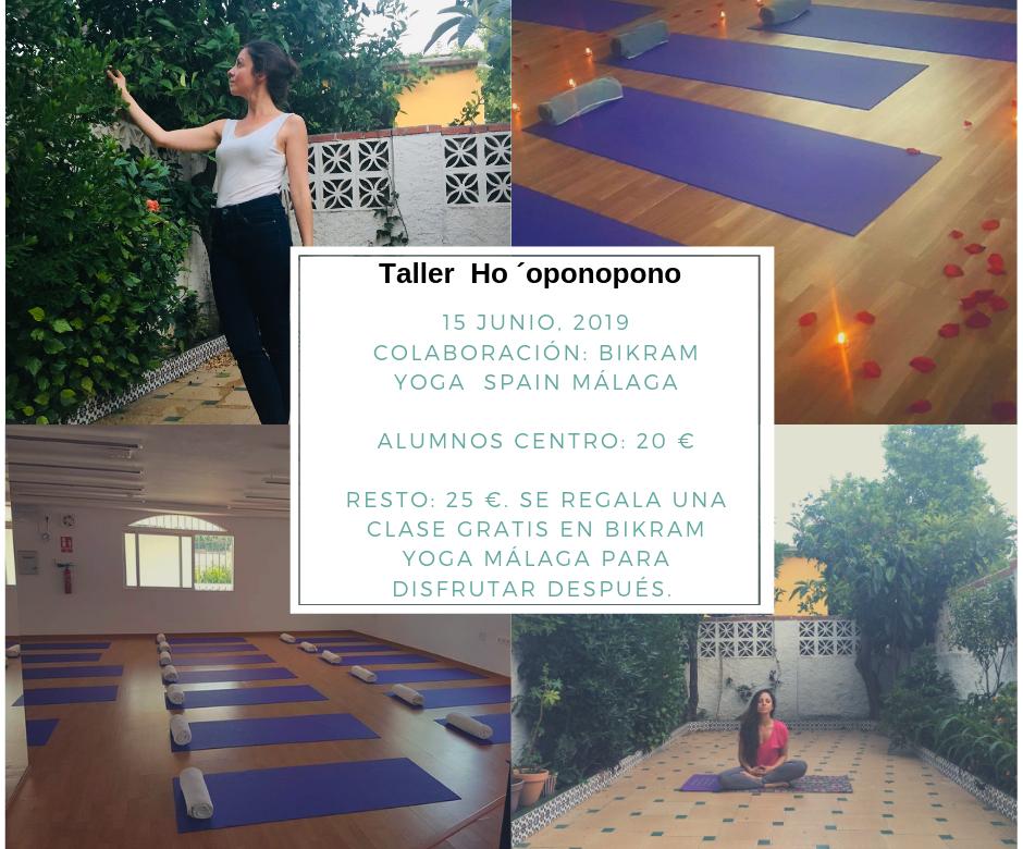 Taller Ho´oponopono nivel básico en Bikram Yoga Spain Málaga